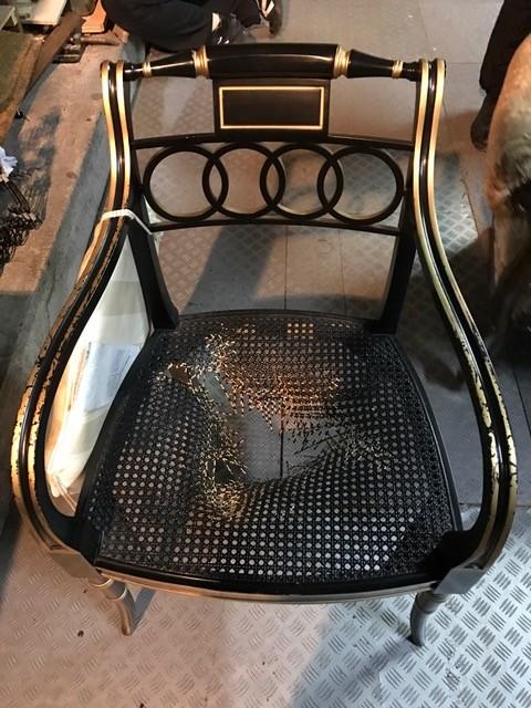籐椅子修理前