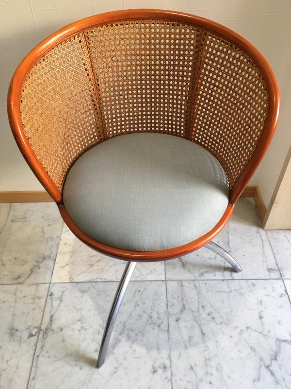 籐椅子張替え修理後