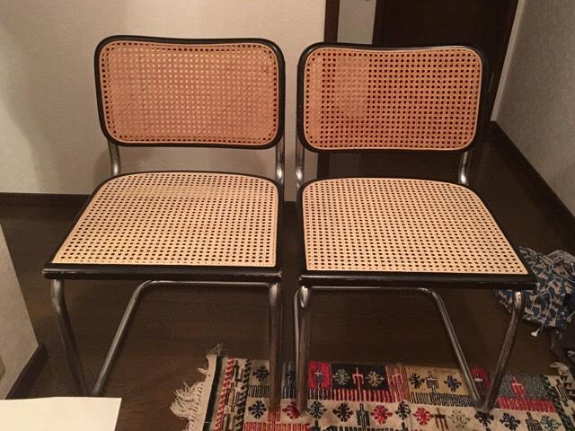 籐の椅子修理後