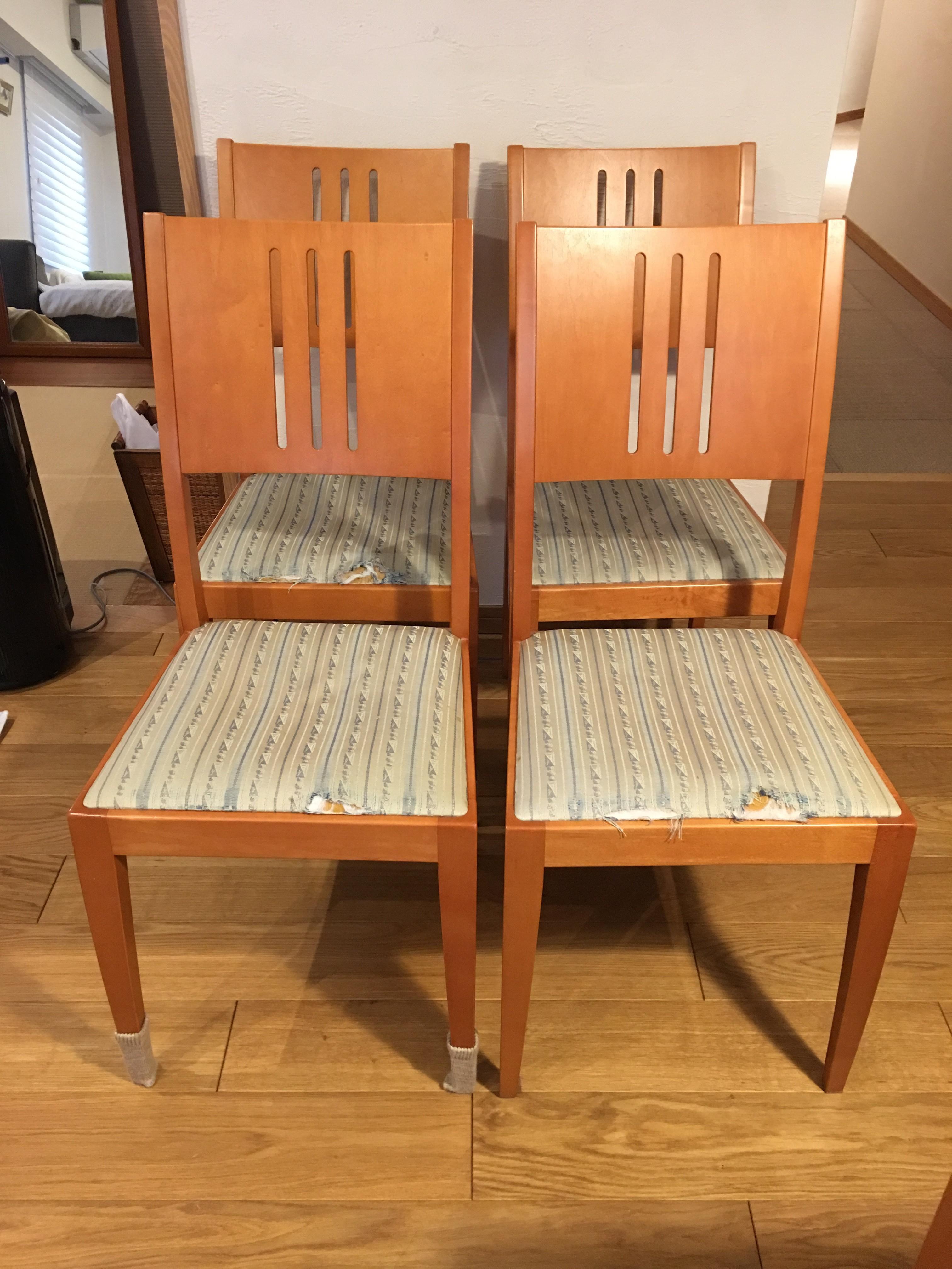 椅子張替え前4脚